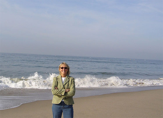 Louise Borden and the Pacific Ocean (California)