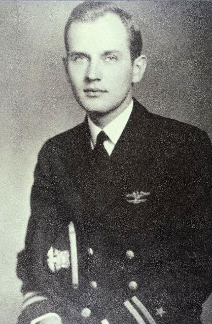 Ted as a young officer.